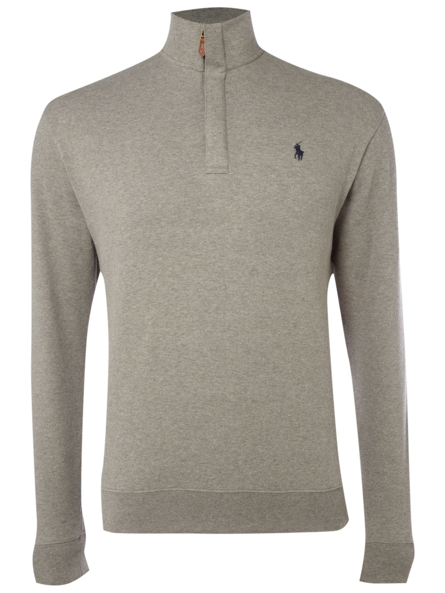 lyst ralph lauren golf half zip sweatshirt in gray for men. Black Bedroom Furniture Sets. Home Design Ideas