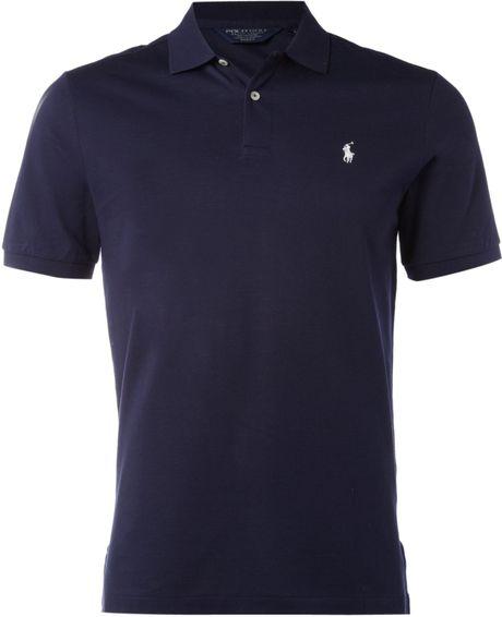 Ralph Lauren Golf Custom Fit Polo Shirt In Blue For Men