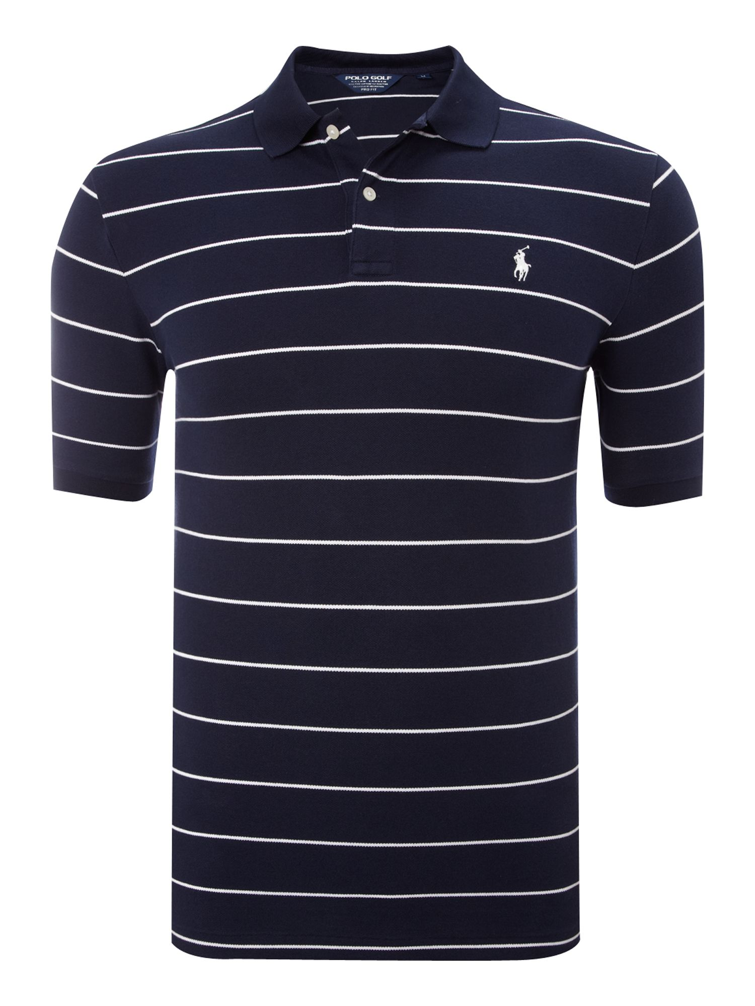 Ralph Lauren Golf Pencil Stripe Short Sleeve Polo Shirt In