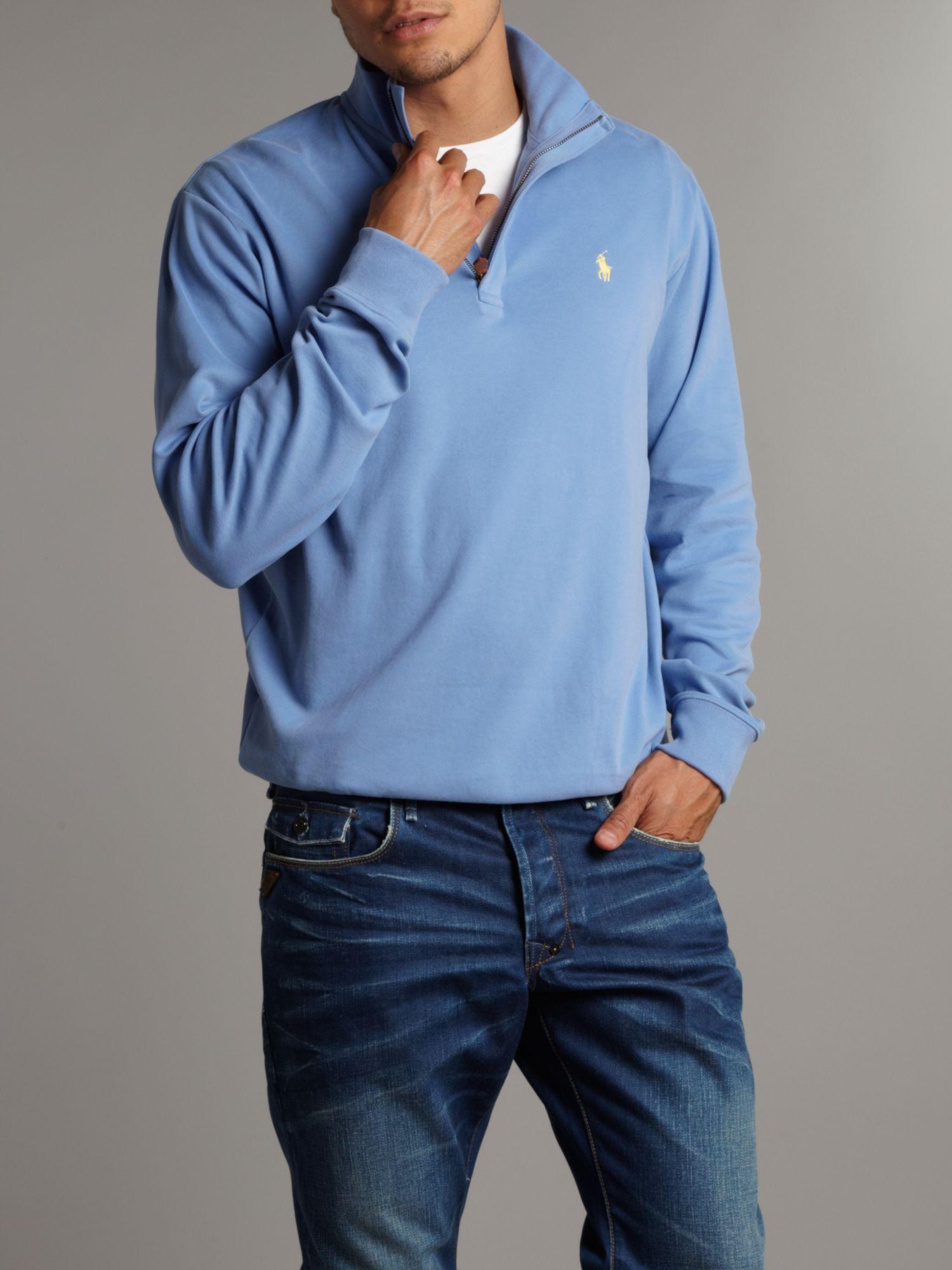 Ralph lauren golf Half Zip Sweatshirt in Blue for Men | Lyst