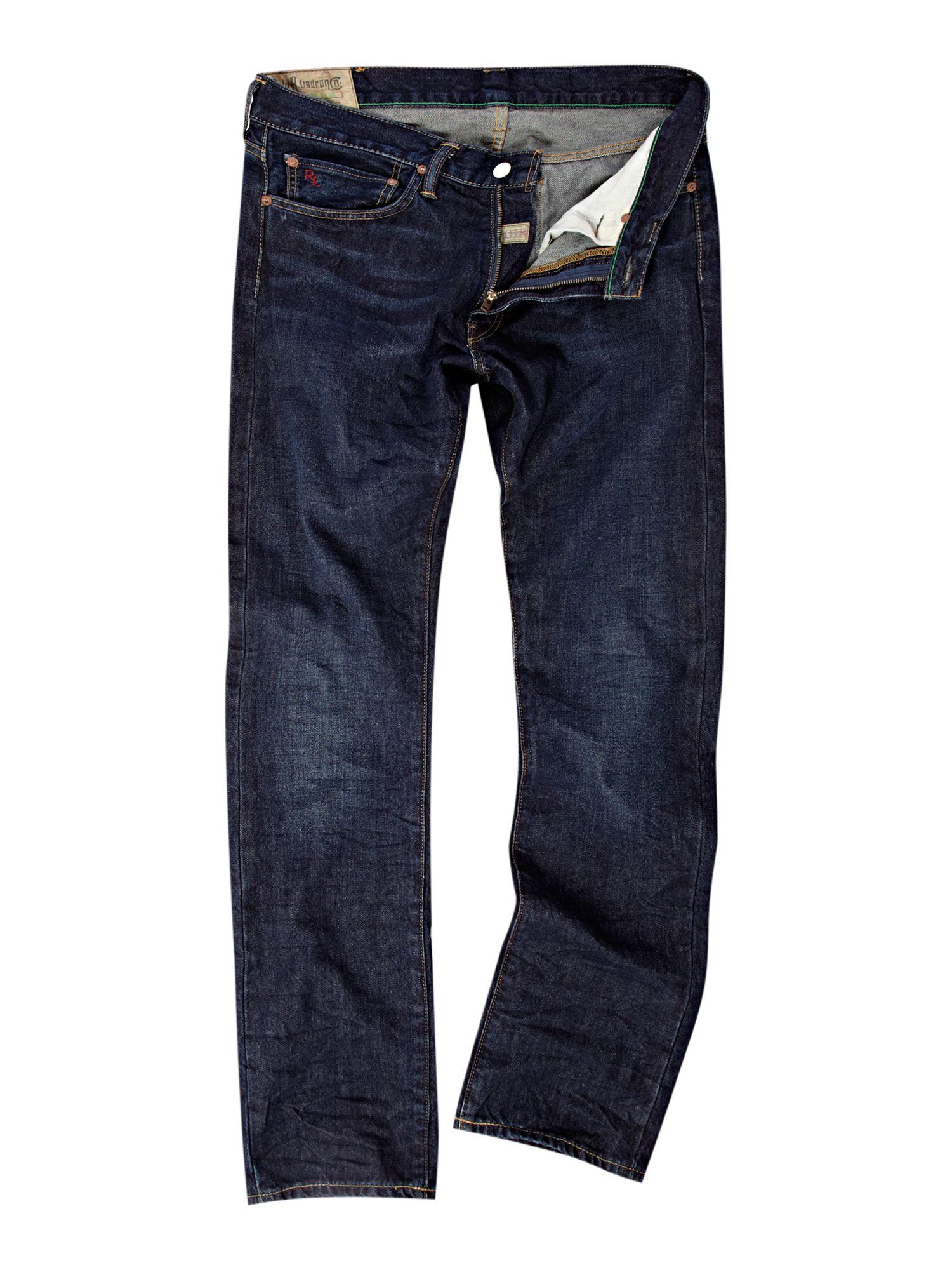 polo ralph lauren slim fit antique indigo jean in blue for. Black Bedroom Furniture Sets. Home Design Ideas
