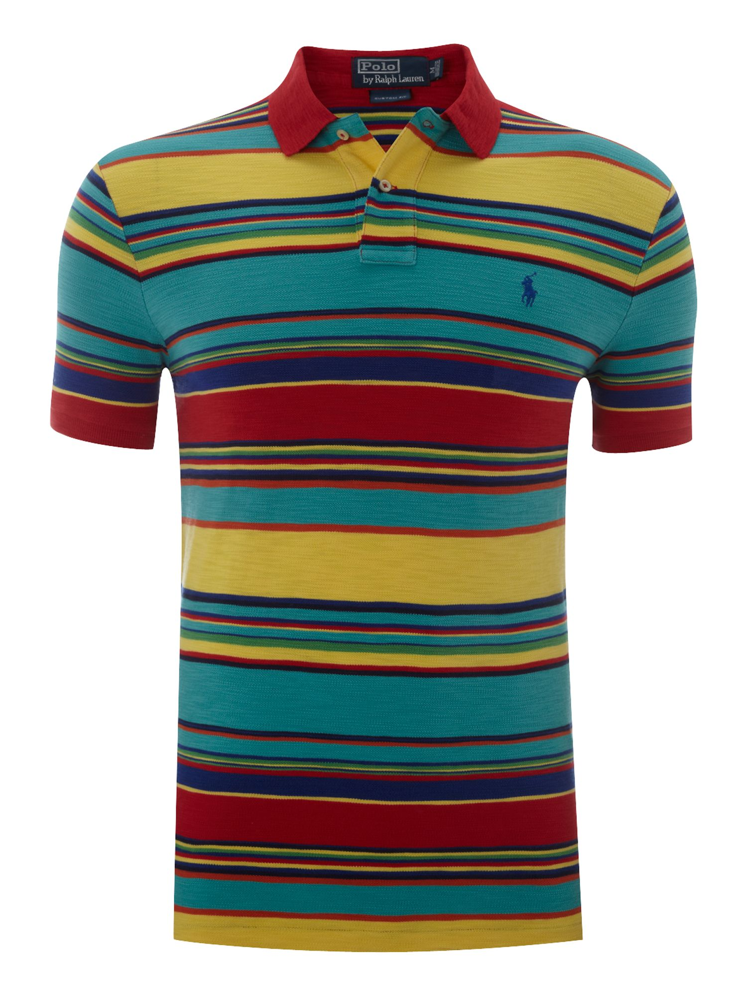 polo ralph lauren custom fitted multi striped polo shirt