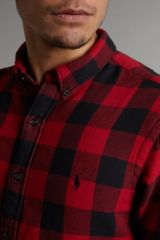 Polo Ralph Lauren Slim Fit Large Check Shirt in Red for Men - Lyst