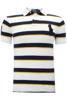 Polo Ralph Lauren Slim Fitted Varsity Striped Polo Shirt - Lyst