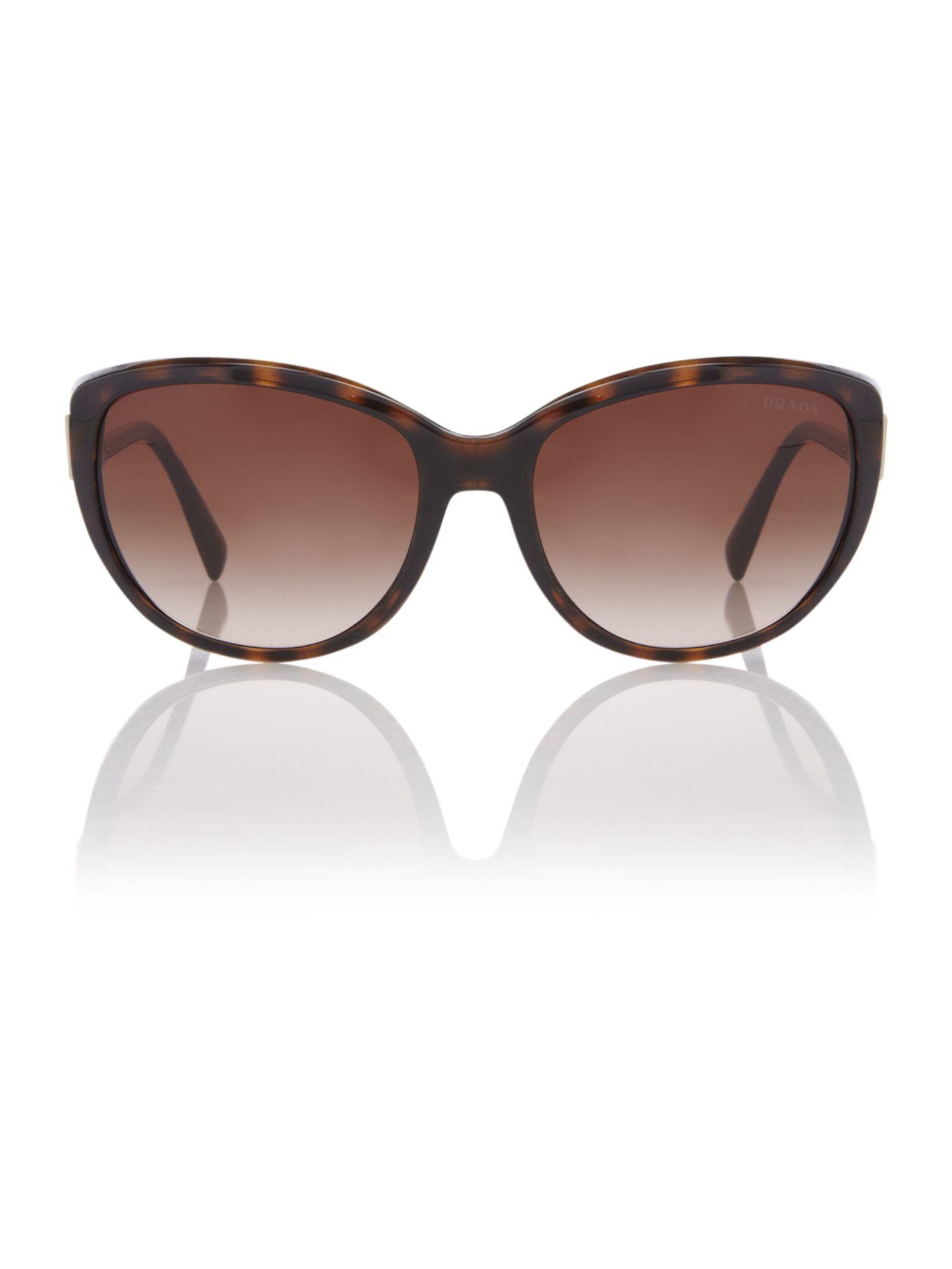 ccc6948c12a01 ... cheap prada ladies pr 07os sunglasses in brown lyst b0c07 a5009