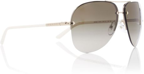 Prada Ladies Pr 53os Sunglasses in Gold - Lyst