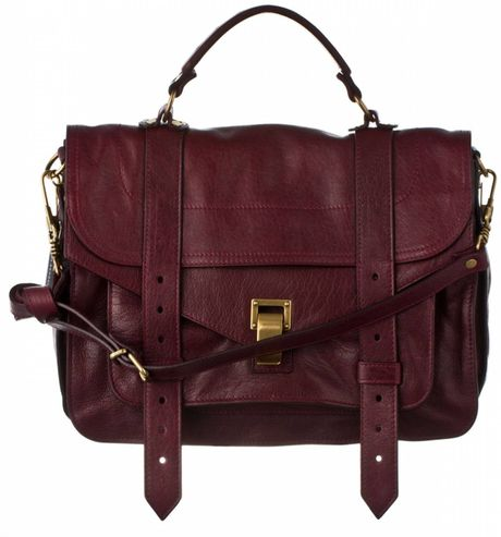 Proenza Schouler Ps1 Medium Leather in Red (burgundy) - Lyst
