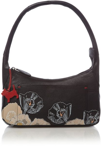Radley Caversham Flower Print Small Cross Body Bag in Black - Lyst
