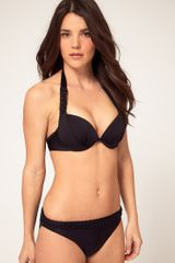 Seafolly Seafolly Macrame Booster Bikini Top in Black - Lyst