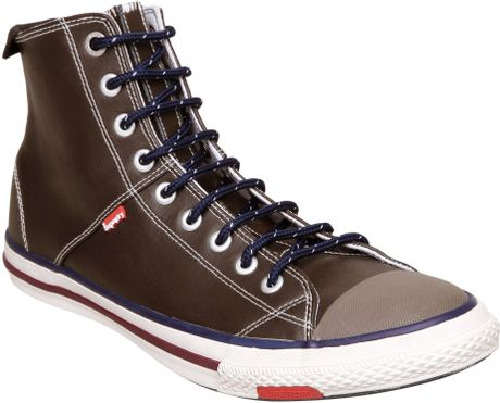 Superdry Super Ser Hitop in Brown for Men - Lyst