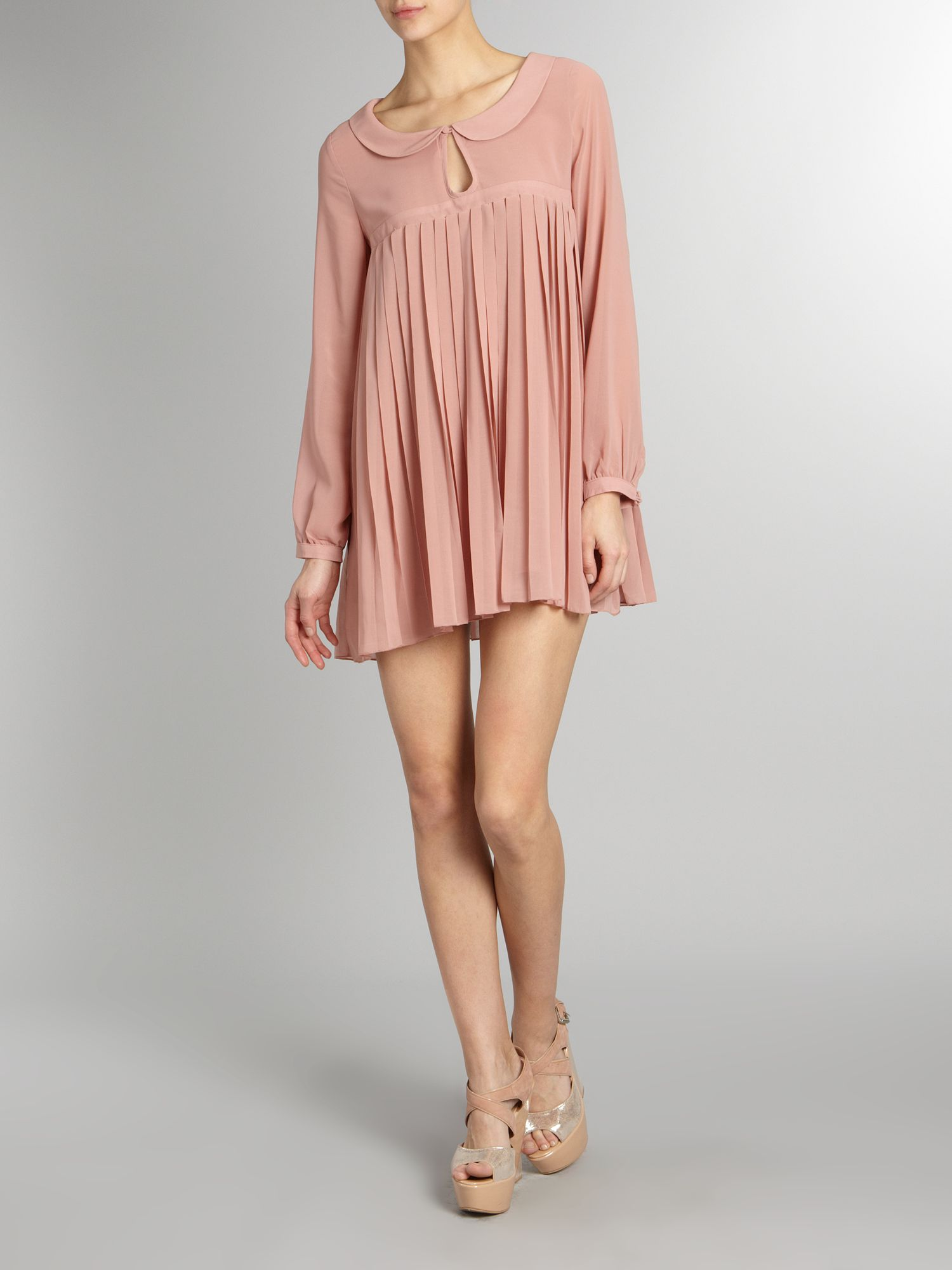 Tfnc london Pleated Dress in Pink  Lyst