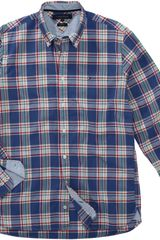 Tommy Hilfiger Andy Custom Fit Check Shirt in Blue for Men - Lyst