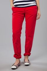 Tommy Hilfiger Broken Twill Rome Slim Leg in Red - Lyst
