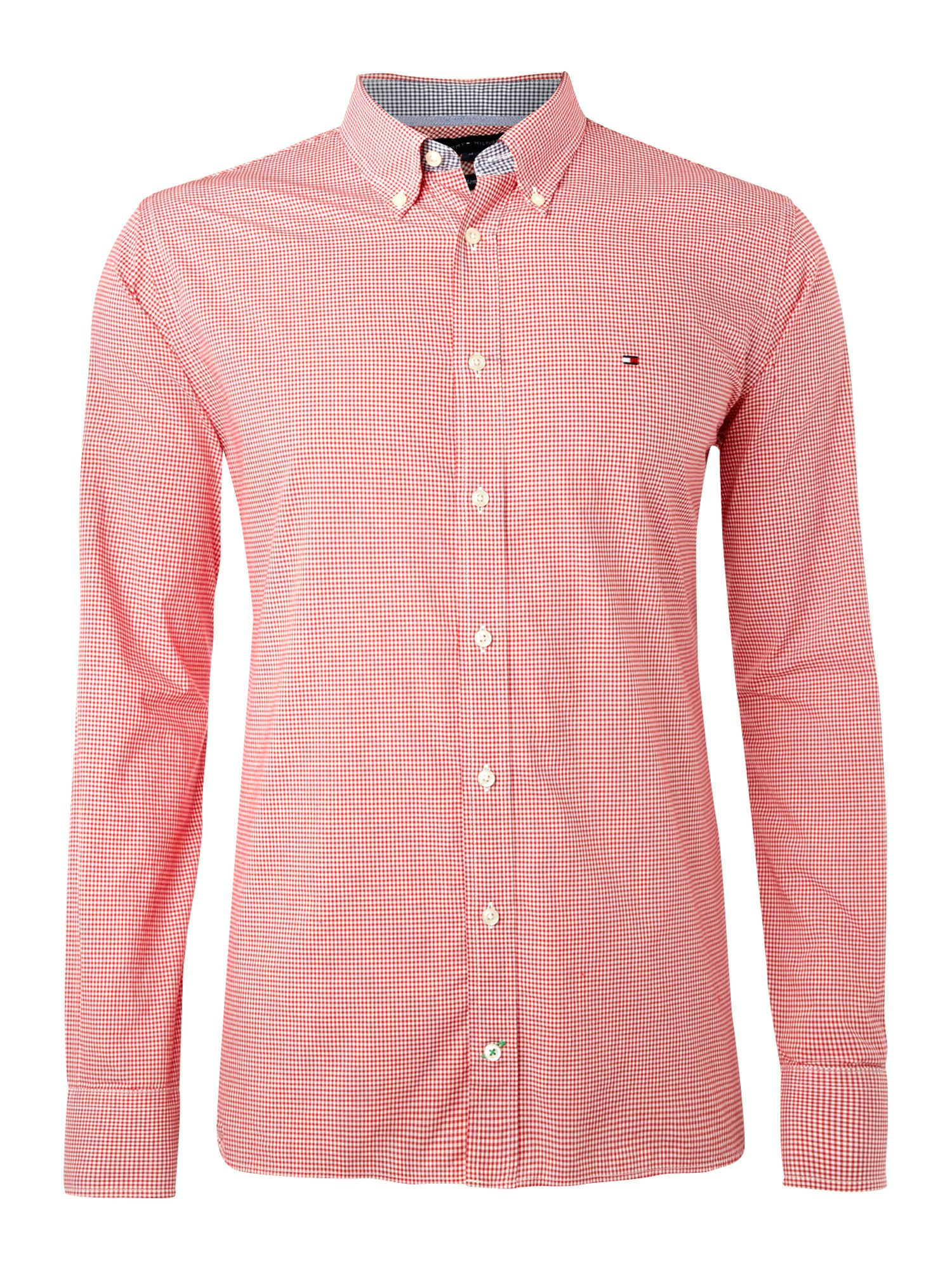 Tommy Hilfiger Check Custom Fit Shirt In Pink For Men Lyst