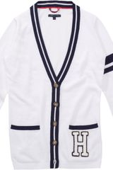 Tommy Hilfiger Jaye Long Sleeved Cardigan - Lyst