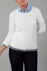 Tommy Hilfiger Wally Cable Jumper in White - Lyst