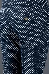 Tory Burch Polka Dot Trouser in Blue - Lyst