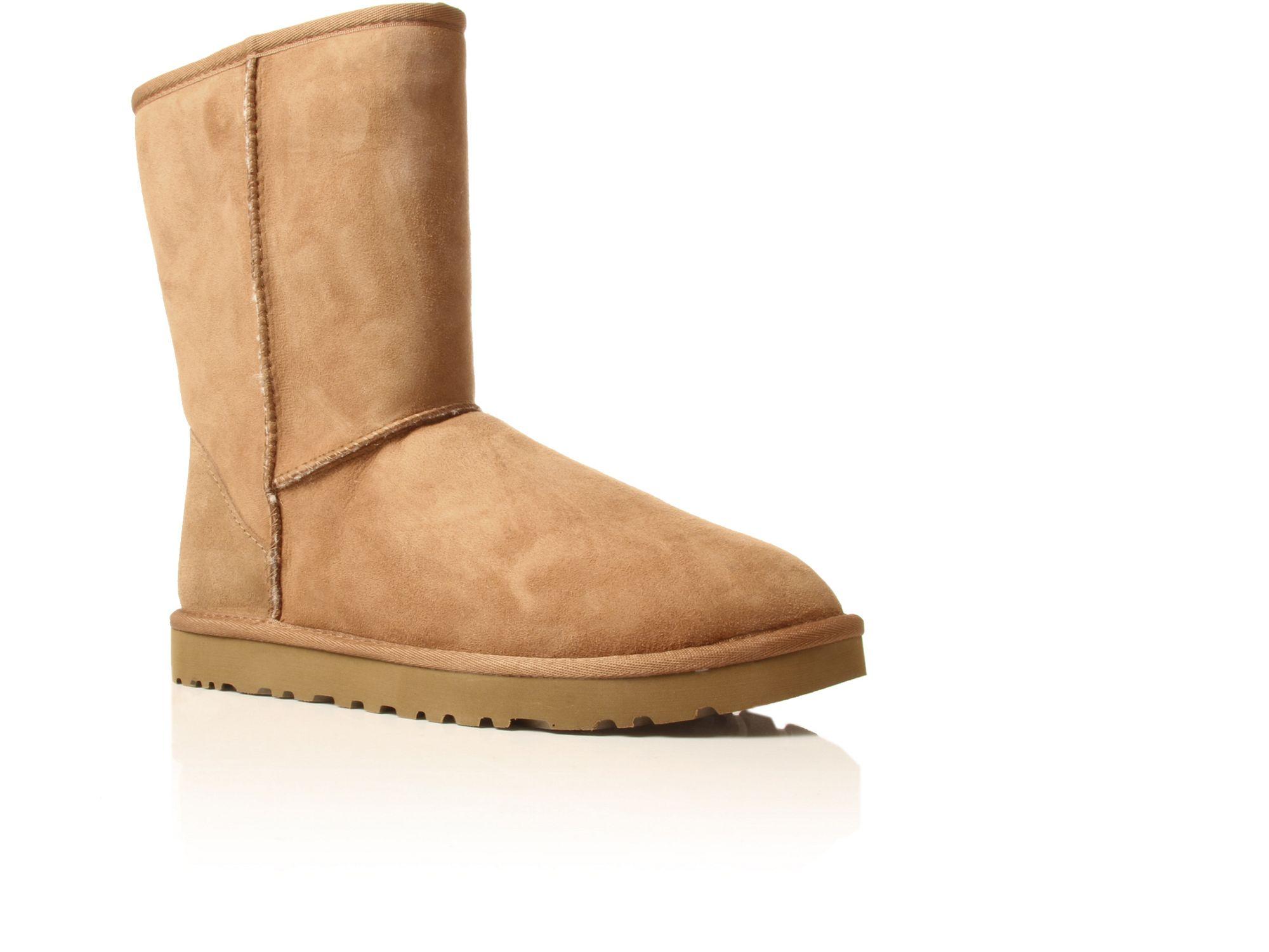 ugg mens classic short sheepskin boot in brown for men. Black Bedroom Furniture Sets. Home Design Ideas