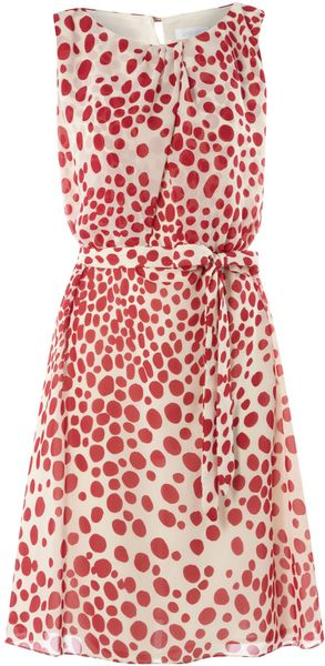 Untold Draped Polka Dot Dress - Lyst