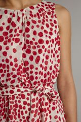 Untold Draped Polka Dot Dress in Red (raspberry) - Lyst