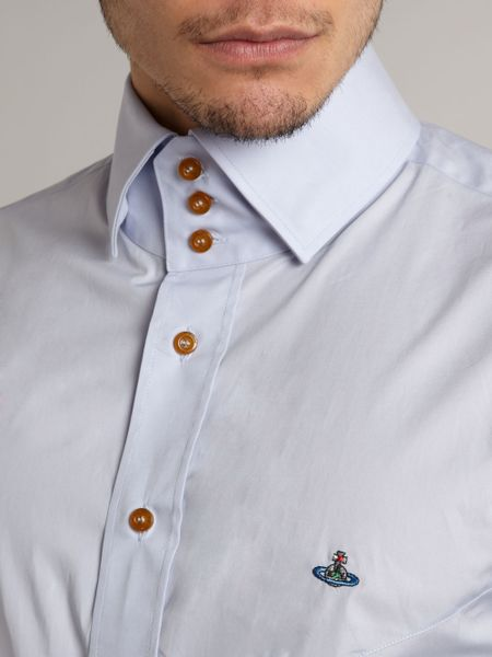 vivienne westwood classic three button collar shirt in