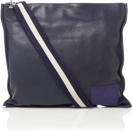 Vivienne Westwood Large Messenger Bag in Blue for Men (navy) - Lyst