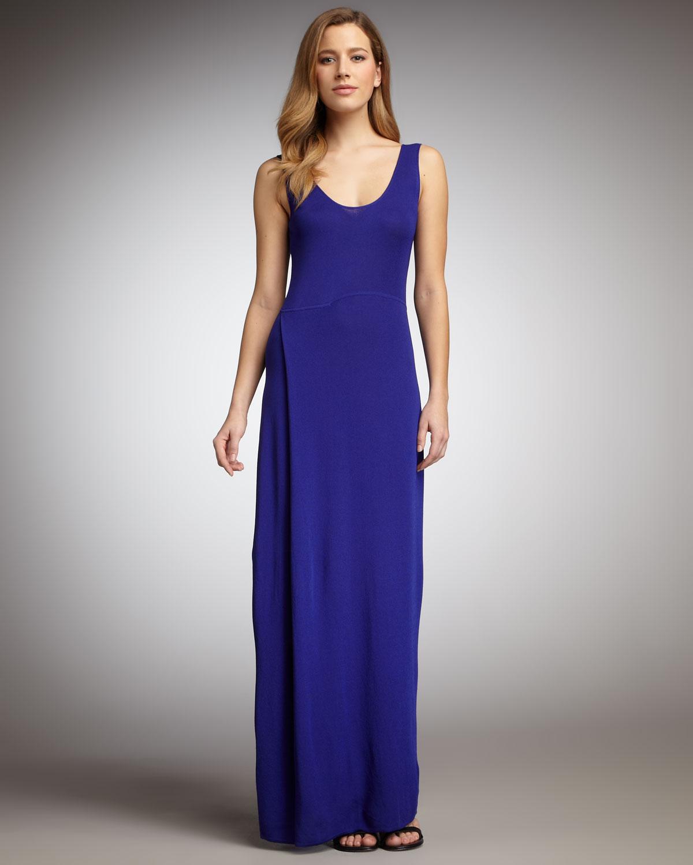 Lyst Adrienne Vittadini Long Dress Womens In Blue