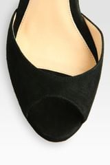 Alexandre Birman Suede Wedge Platform Sandals in Black - Lyst