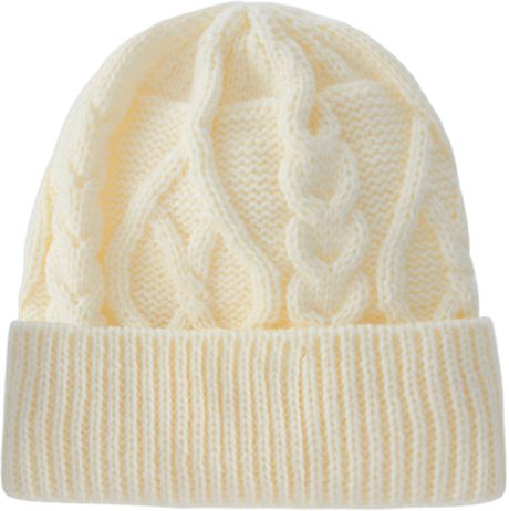 Asos Cable Knit Turn Up Beanie in Beige for Men (ecru) - Lyst