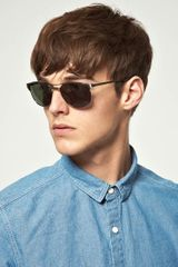 Asos Asos Silver Retro Style Navigator Sunglasses in Gray for Men (silver) - Lyst