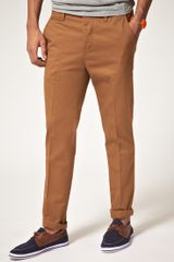 Asos Asos Slim Coated Twill Chinos - Lyst