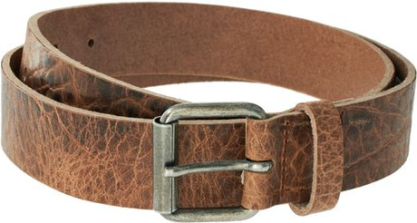 Asos Asos Tan Croc Leather Belt in Brown for Men (tan) - Lyst