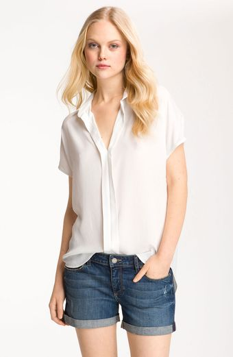 Bellatrix Pleat Placket Slouchy Shirt Tunic - Lyst