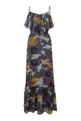 Biba Bird Printed Maxi Dress