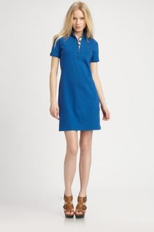 Burberry Brit Stretch Cotton Polo Dress - Lyst