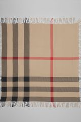 Burberry Check Cotton Scarf Camel - Lyst