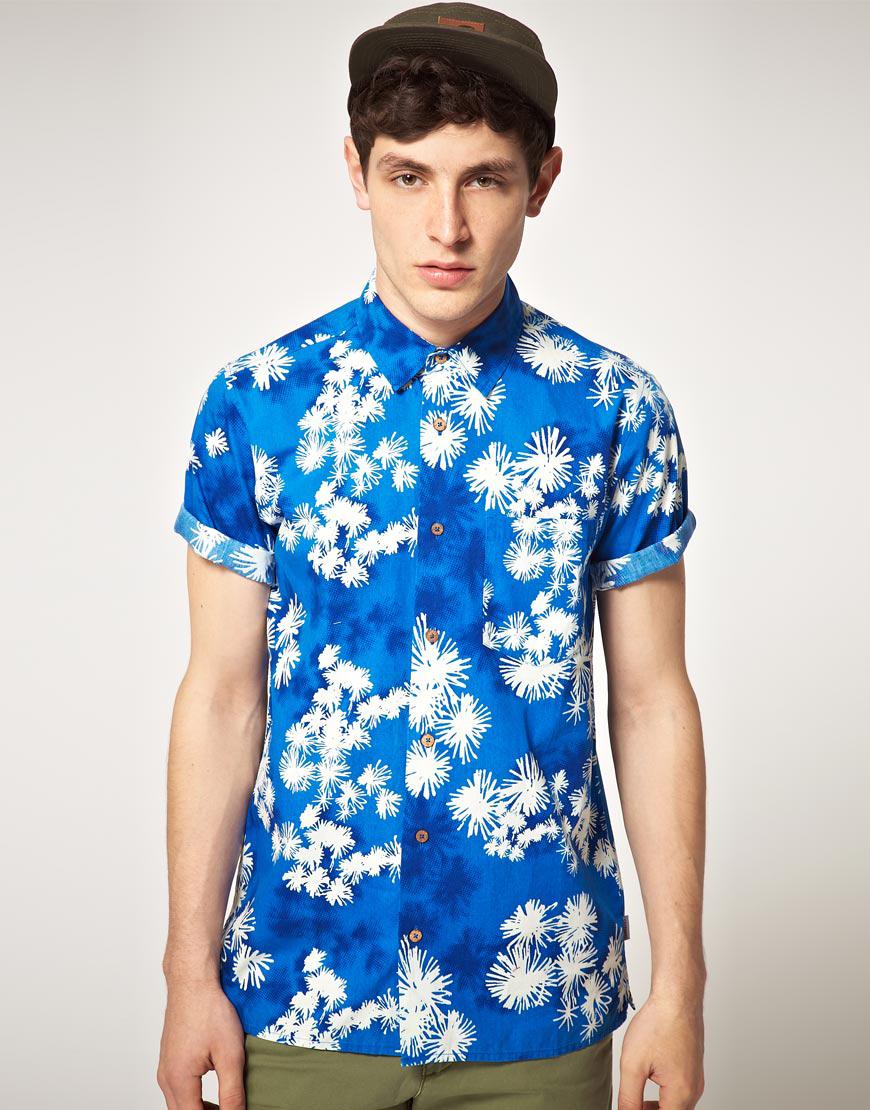 Carhartt Carhartt Short Sleeve Hawaiian Shirt in Blue for Men | Lyst