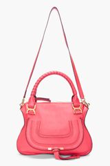 Chloé Red Marcie Shoulder Bag in Red - Lyst