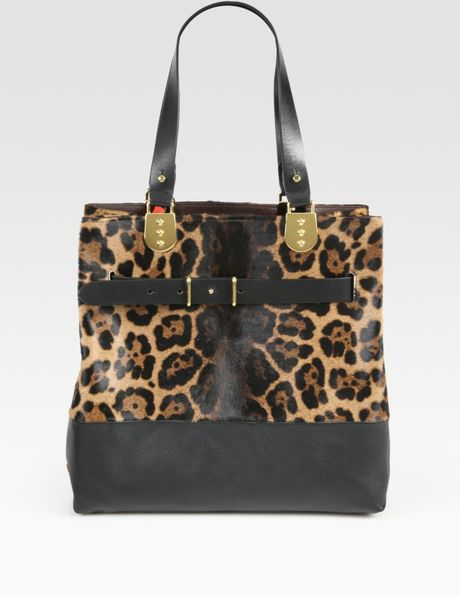 Christian Louboutin Sybil Leopardprint Pony Hair Leather Tote Bag in Animal (leopard) - Lyst