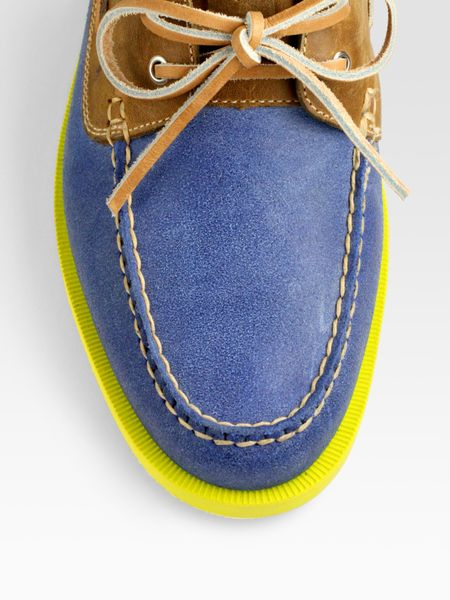 Cole Haan Air Yacht Club Boat Shoes in Blue for Men (ocean