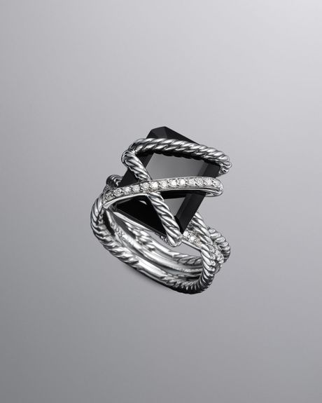 David Yurman Cable Wrap Ring Black Onyx In Black Lyst