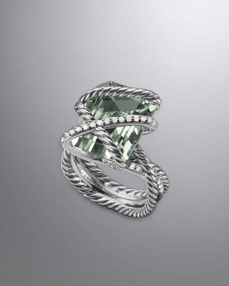 David Yurman Cable Wrap Ring Prasiolite In Green