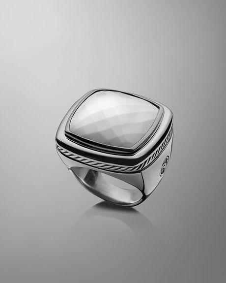 david yurman 20mm white agate albion ring in white lyst