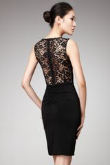 Dolce & Gabbana Lace-shoulder Dress - Lyst