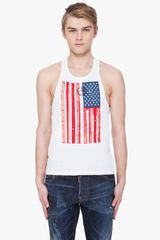 DSquared2 Hetero Stars Stripes Tank Top - Lyst
