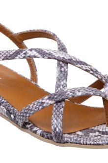 Dune California D Snake Low Wedge Sandals - Lyst