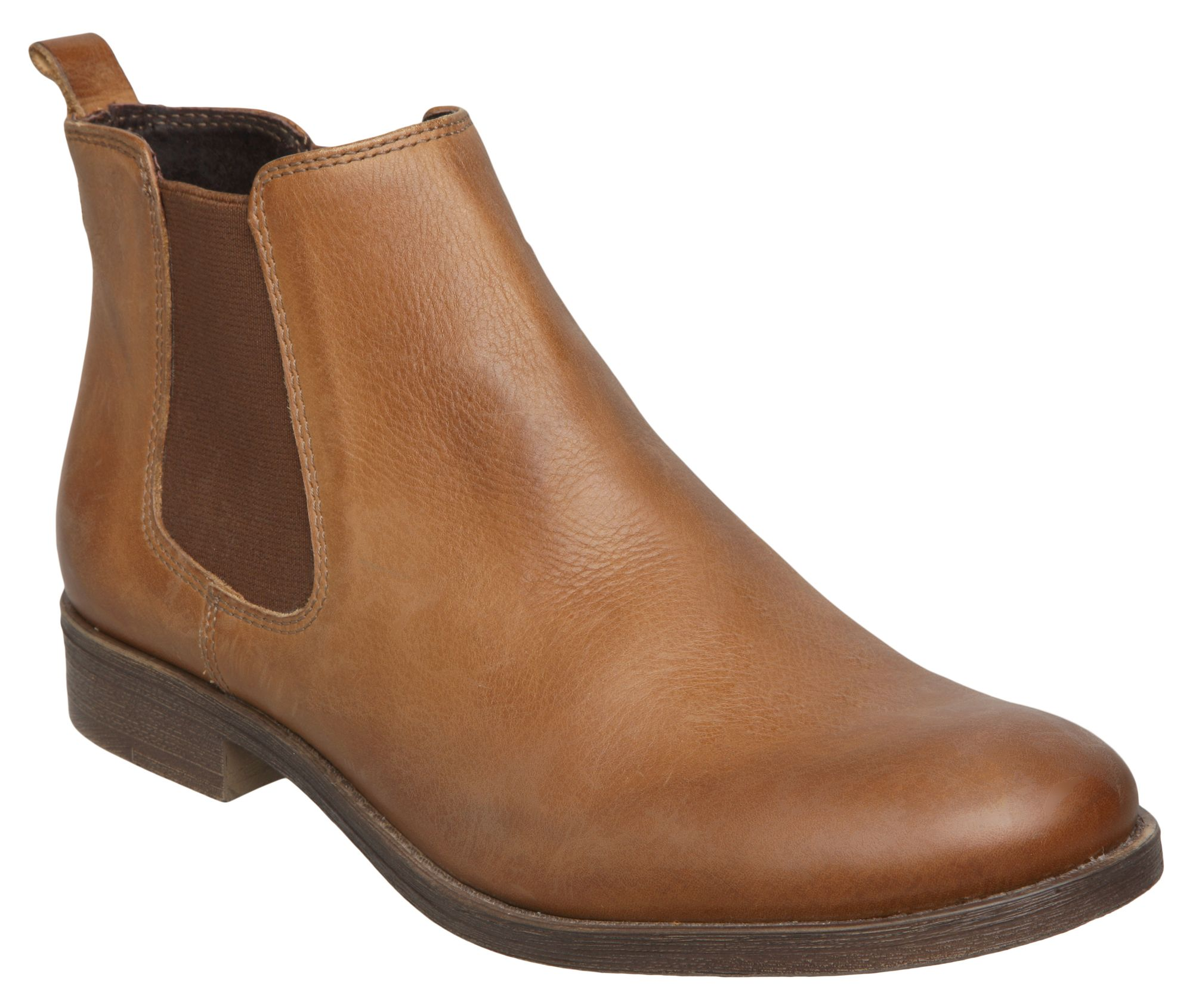 Wonderful Paul Green Chelsea Ladies39 Tan Leather Ankle Boots  Paul Green From