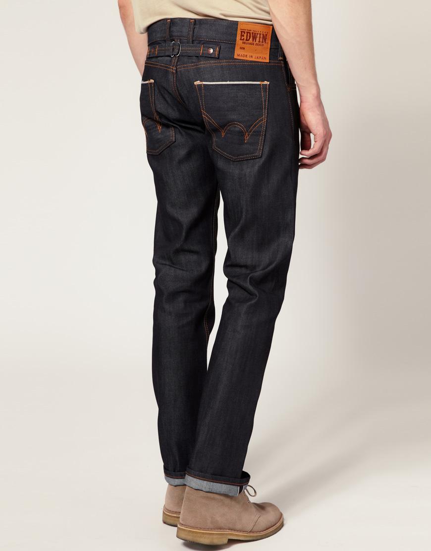 4b9676ab630 Lyst - Edwin Edwin Sen Japanese Red Selvedge Skinny Jeans in Blue ...