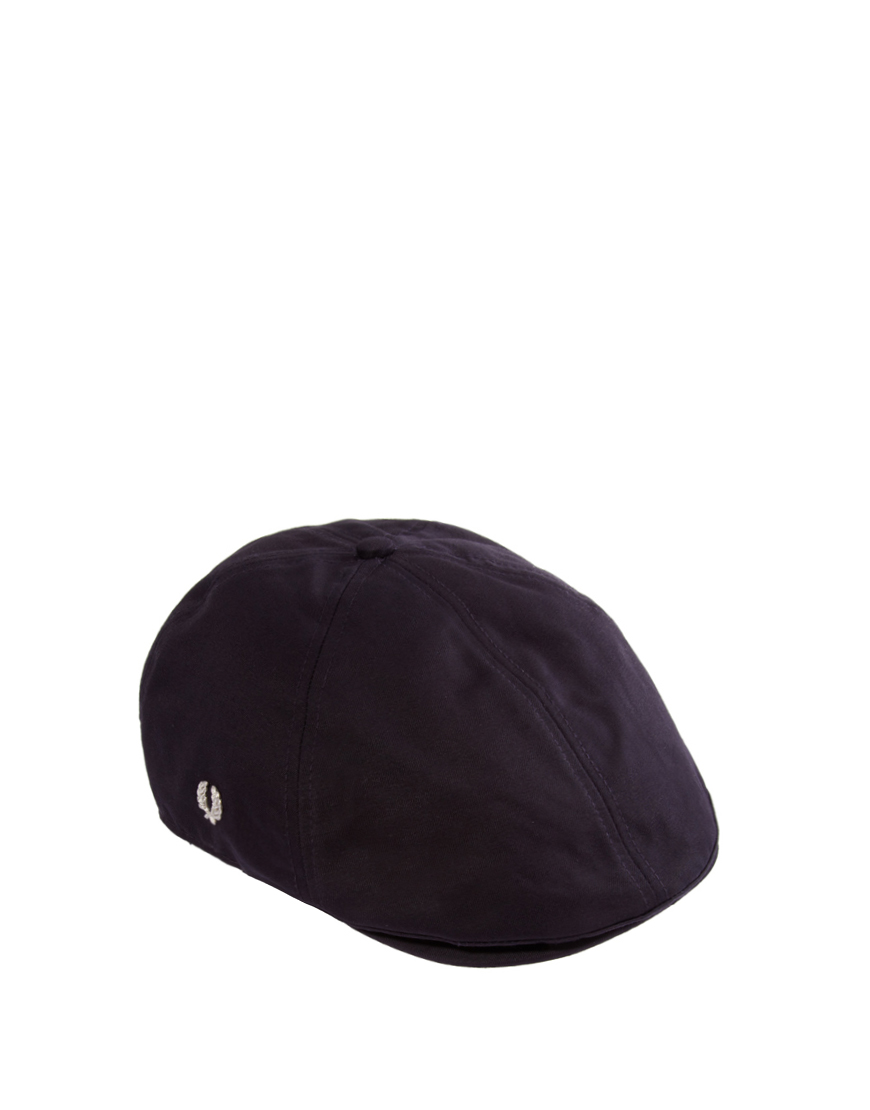 lyst fred perry panelled flat cap in blue for men. Black Bedroom Furniture Sets. Home Design Ideas