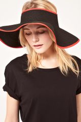 French Connection French Connection Lady Visor Hat in Black - Lyst